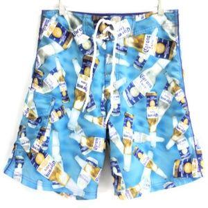 dc663537de Corona Board Shorts. $20 $40. Corona Extra Official Mens Swim Trunks Pocket  32